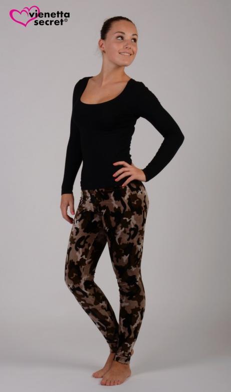 Dámské elastické kalhoty Vienetta Secret Army 546ce7c124