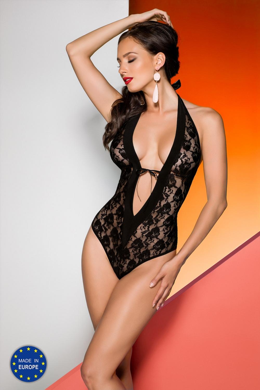 Dámské erotické body Avanua Rayen teddy černé