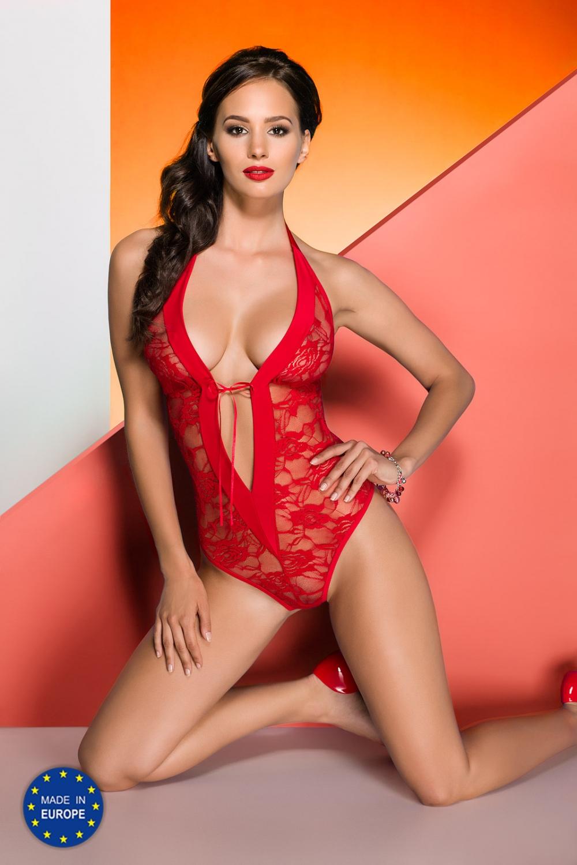 Dámské erotické body Avanua Rayen teddy červené