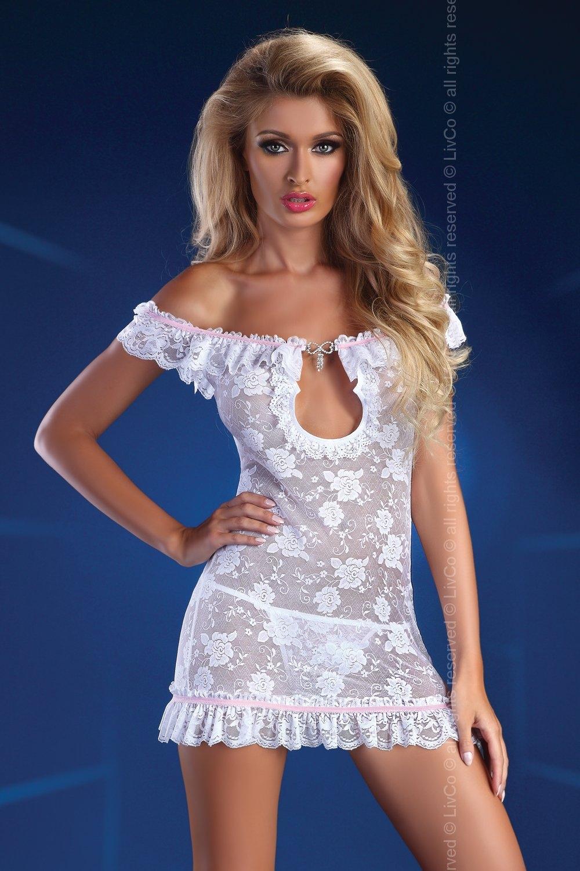 Dámské erotické šaty Livia Corsetti Mija bílé