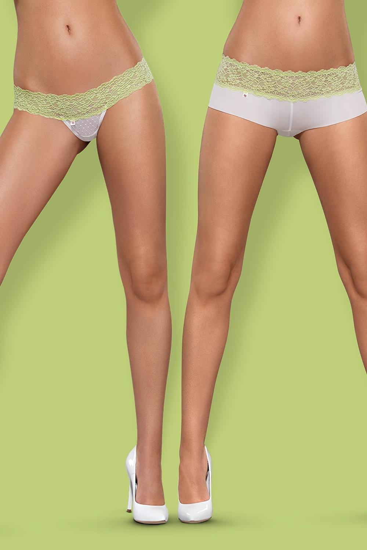 Dámské kalhotky a tanga Obsessive Lacea 2pack green