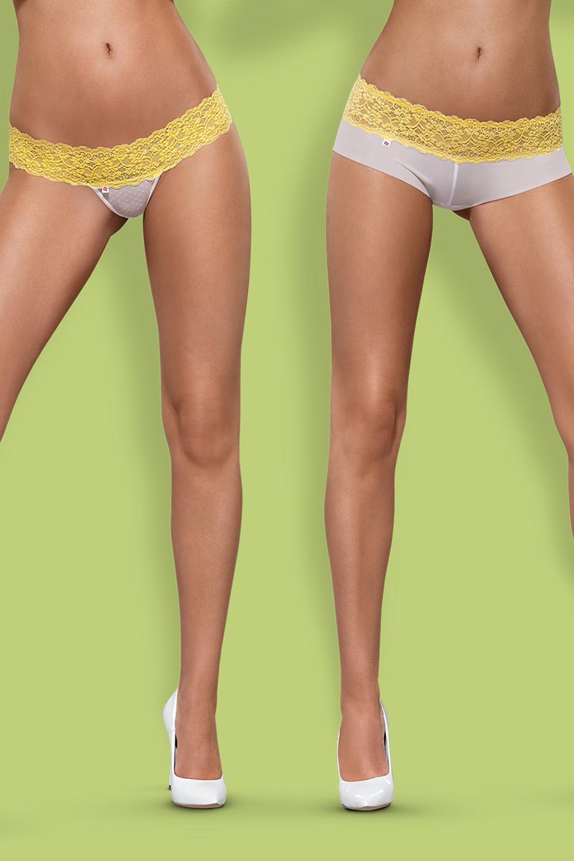 Dámské kalhotky a tanga Obsessive Lacea 2pack yellow