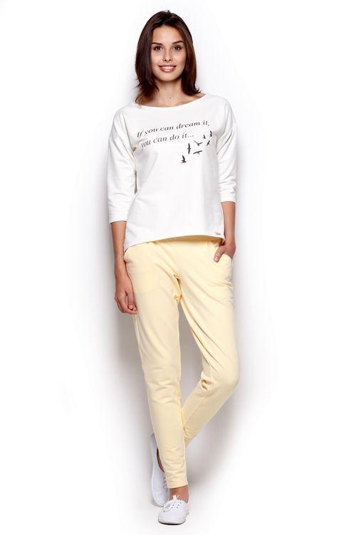 Dámské kalhoty FIGL M305 žluté