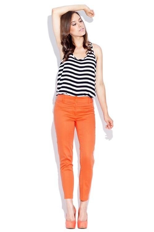 Dámské kalhoty Katrus K021 oranžové