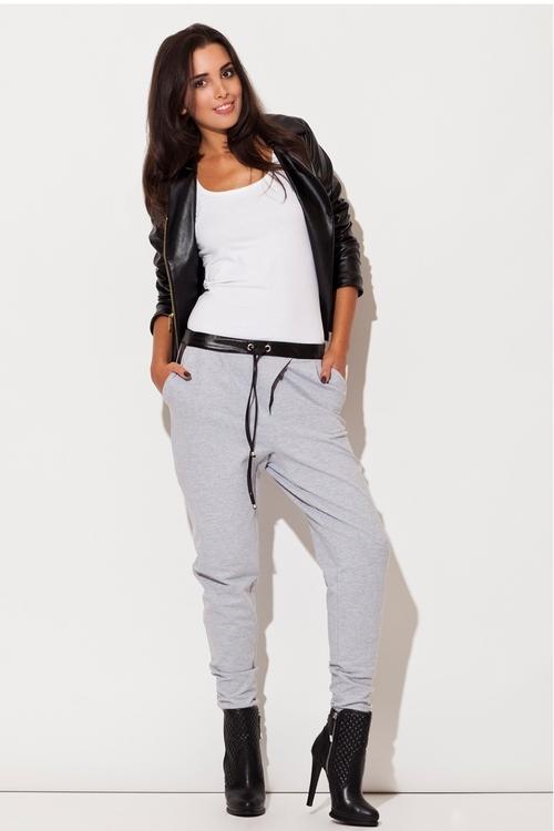 Dámské kalhoty Katrus K107 šedé