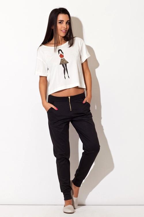 Dámské kalhoty Katrus K153 černé