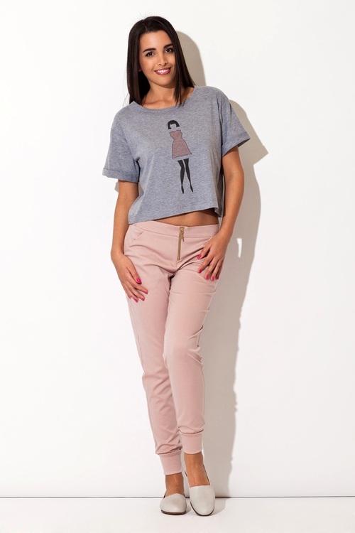 Dámské kalhoty Katrus K153 růžové