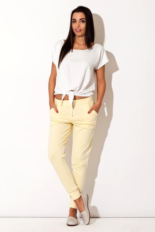 Dámské kalhoty Katrus K153 žluté