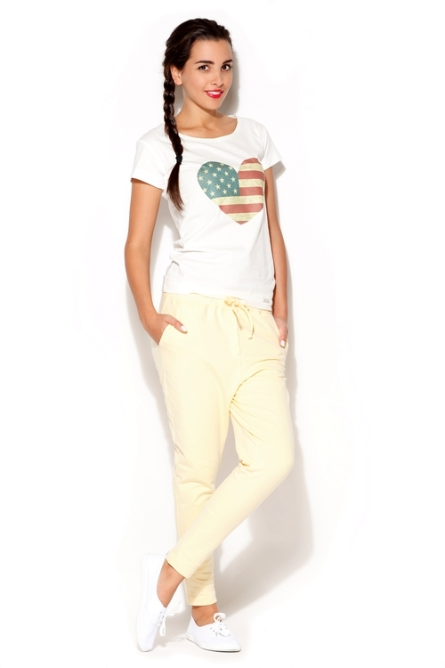 Dámské kalhoty Katrus K187 žluté