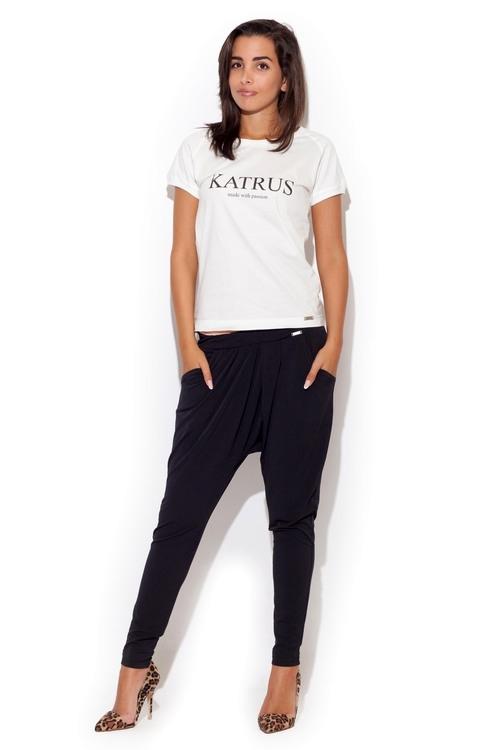 Dámské kalhoty Katrus K193 černé
