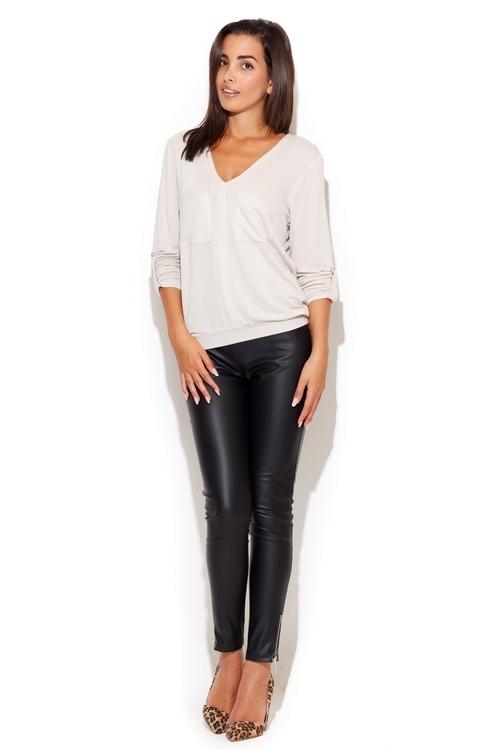 Dámské kalhoty Katrus K197 černé