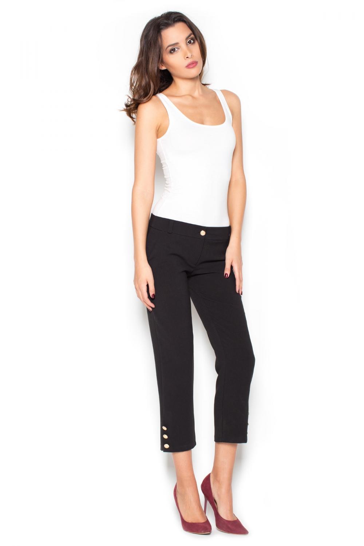 Dámské kalhoty Katrus K372 černé