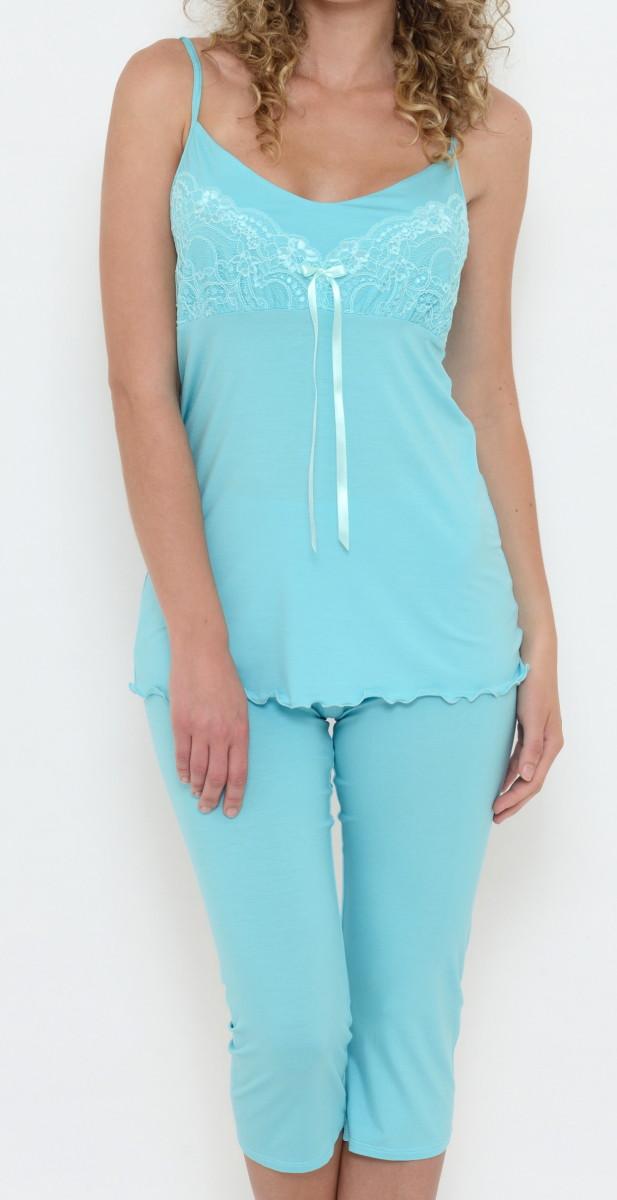 Dámské kapri pyžamo na ramínka Follia Chloe