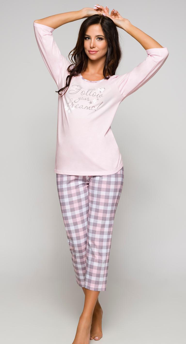 Dámské kapri pyžamo Regina 868 růžové
