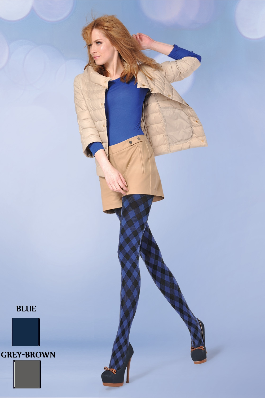 Dámské punčocháče zimní Gabriella Nicky gray-brown