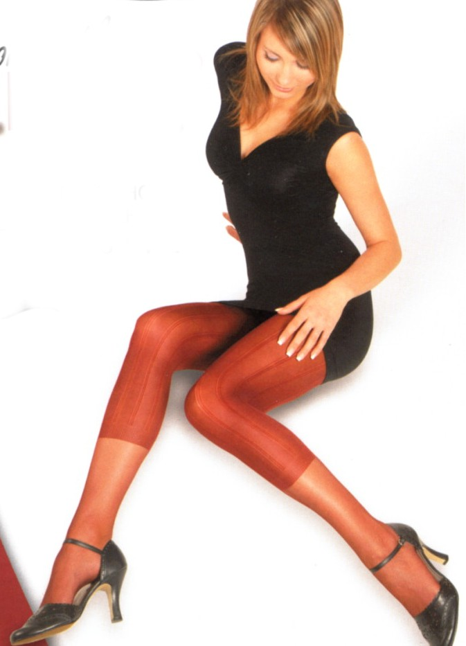 Dámské punčochové kalhoty Elite Exclusive - vzor legíny se vzorem