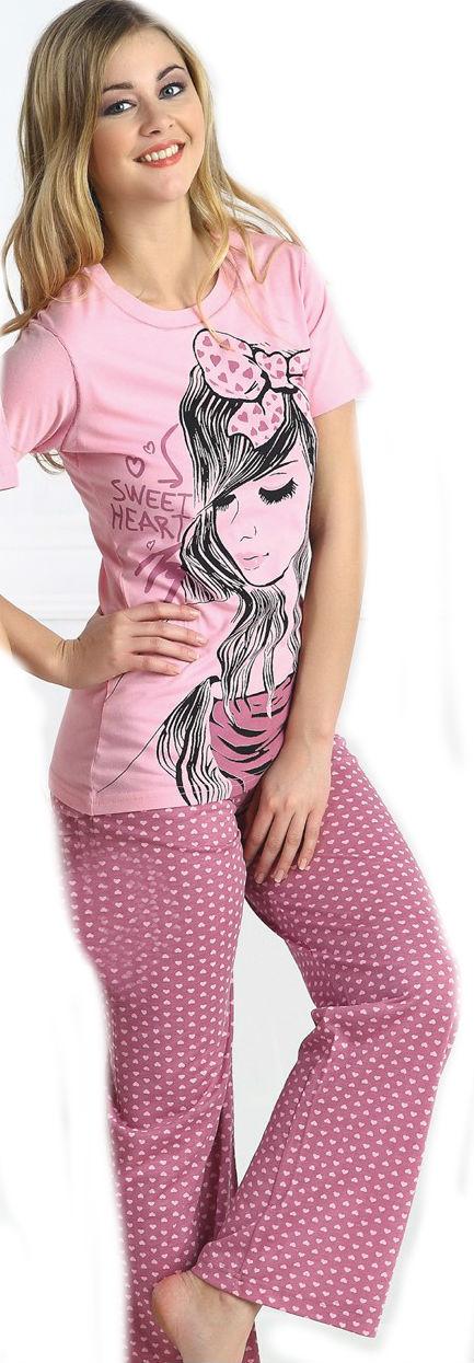 Dámské pyžamo dlouhé CAPRICE 21188