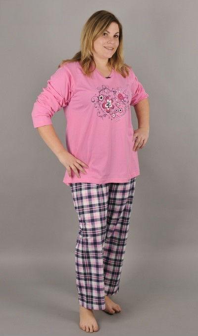Dámské pyžamo dlouhé nadměr Vienetta Secret Renata