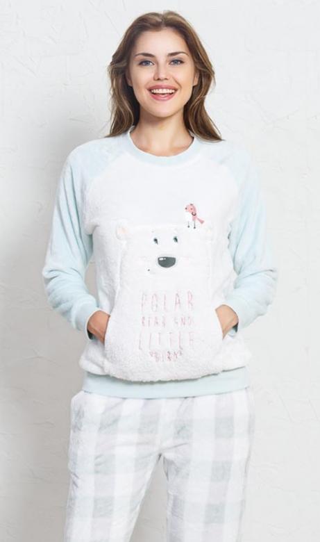 Dámské pyžamo dlouhé Vienetta Secret Polar bear