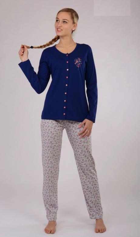 Dámské pyžamo dlouhé Vienetta Secret Elena