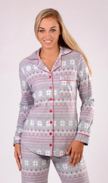 Dámské pyžamo dlouhé Vienetta Secret Nora