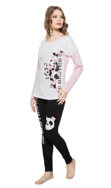 Dámské pyžamo dlouhé Vienetta Secret Pandy