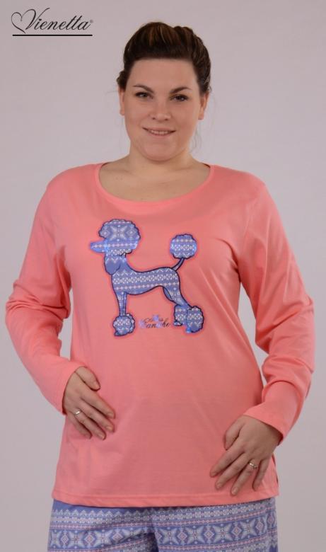 Dámské pyžamo dlouhé Vienetta Secret Pes