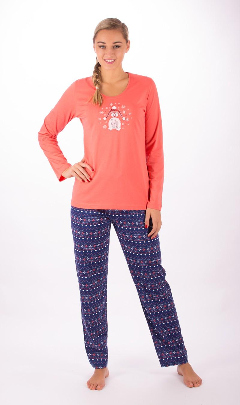 Dámské pyžamo dlouhé Vienetta Secret Sweet friend
