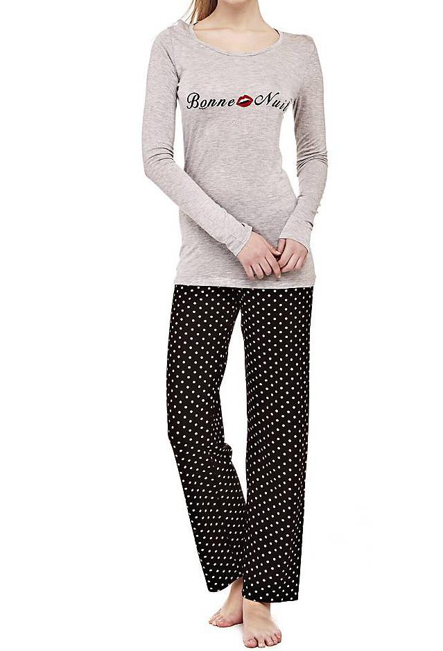 Dámské pyžamo Guess O74X03 šedé