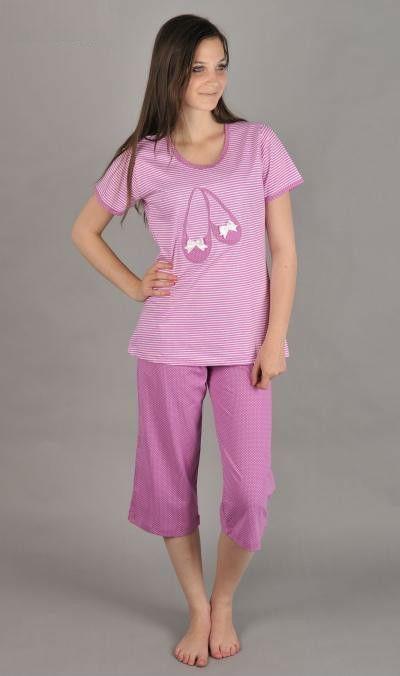 Dámské pyžamo kapri Vienetta Secret Baleríny