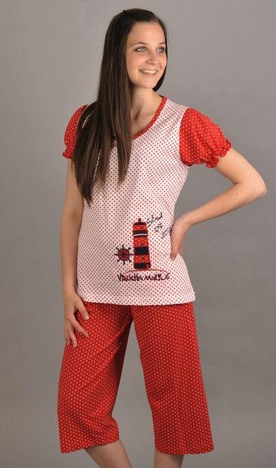 Dámské pyžamo kapri Vienetta Secret Maják výprodej