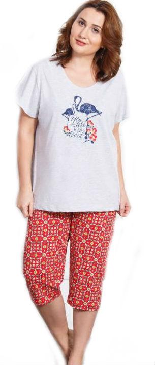 Dámské pyžamo kapri Vienetta Secret Plameňák
