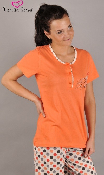 Dámské pyžamo krátký rukáv Vienetta Secret Spící méďa