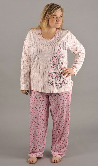 Dámské pyžamo nadměr Vienetta Secret Motýl Love