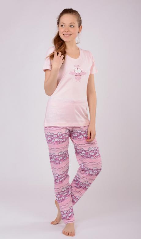 Dámské pyžamo s krátkým rukávem Vienetta Secret Malé sovy