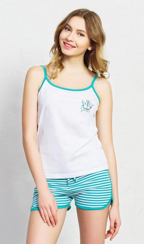 Dámské pyžamo šortky na ramínka Vienetta Secret Summer