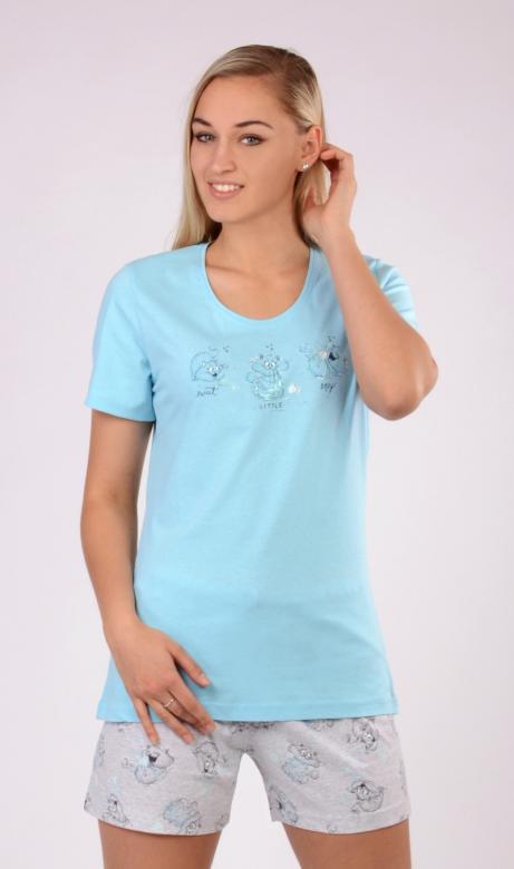 Dámské pyžamo šortky Vienetta Secret Kocour