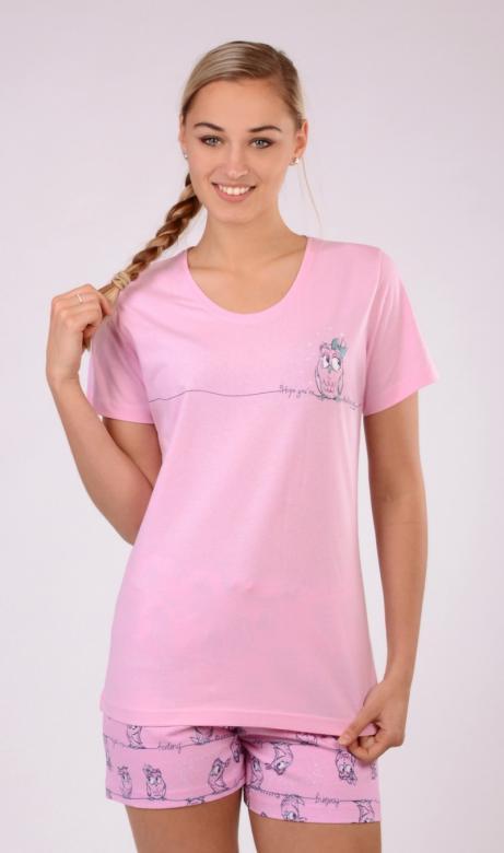 Dámské pyžamo šortky Vienetta Secret Malá sova