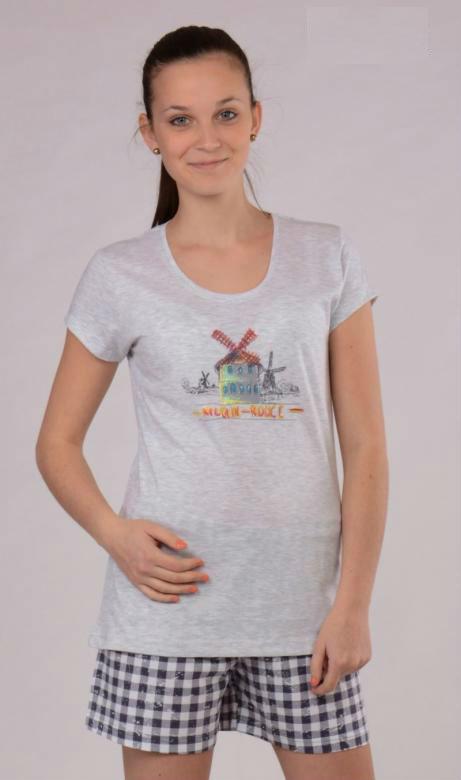 Dámské pyžamo šortky Vienetta Secret Moulin Rouge