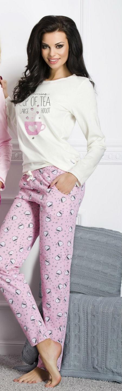 Dámské pyžamo TARO 1003 Sara pink