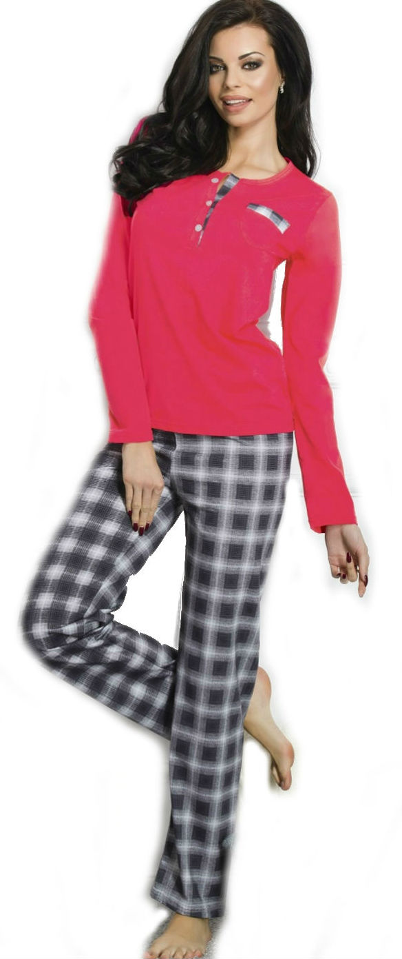 Dámské pyžamo TARO 1195 Gizela red-grey