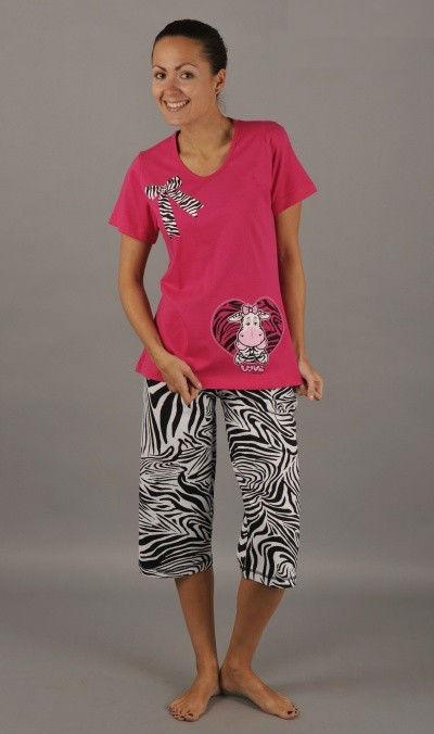 Dámské pyžamo Vienetta Secret (kapri) - Pruhovaná mašle