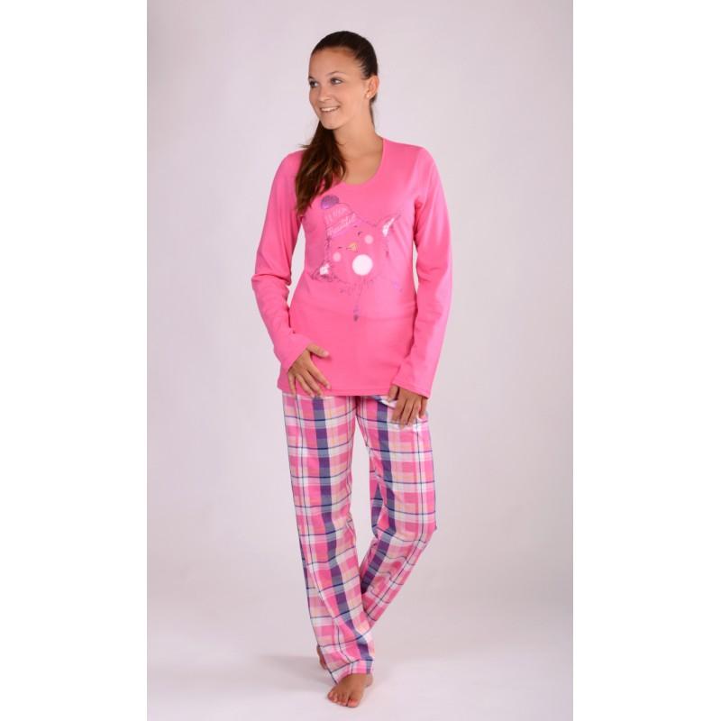 Dámské pyžamo Vienetta Secret Kuře s čepicí