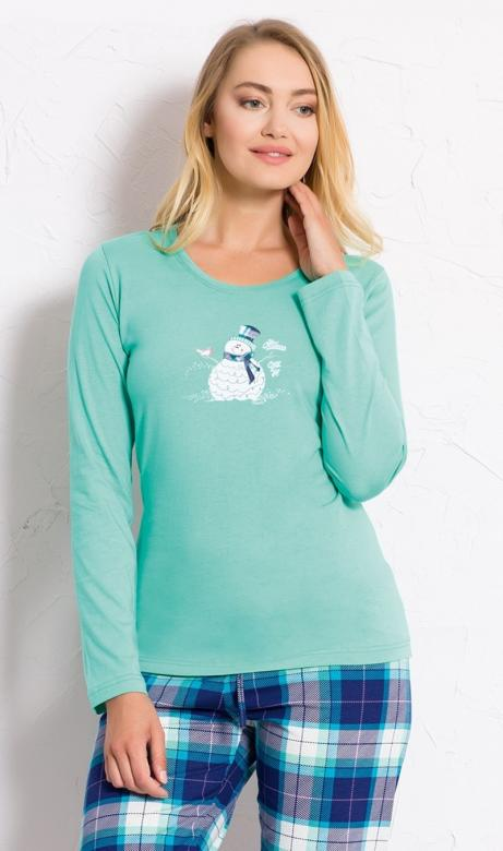 Dámské pyžamo Vienetta Secret Sněhulák s kloboukem