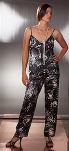 Dámské saténové pyžamo na ramínka Terykon Madame