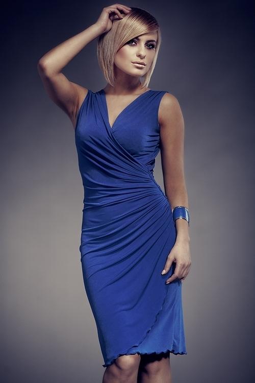 Dámské šaty FIGL M053 modré