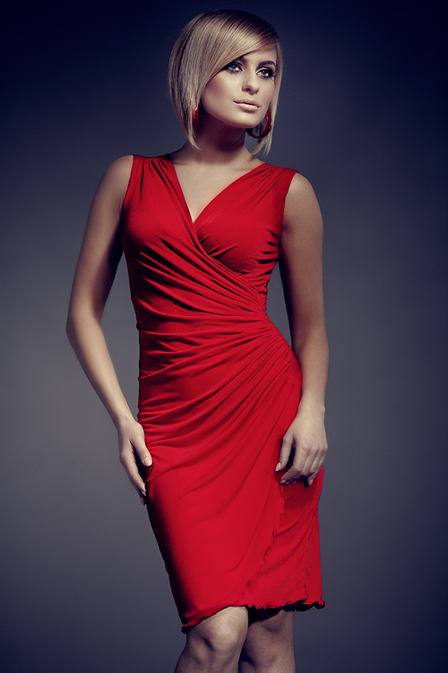 Dámské šaty FIGL M053 red