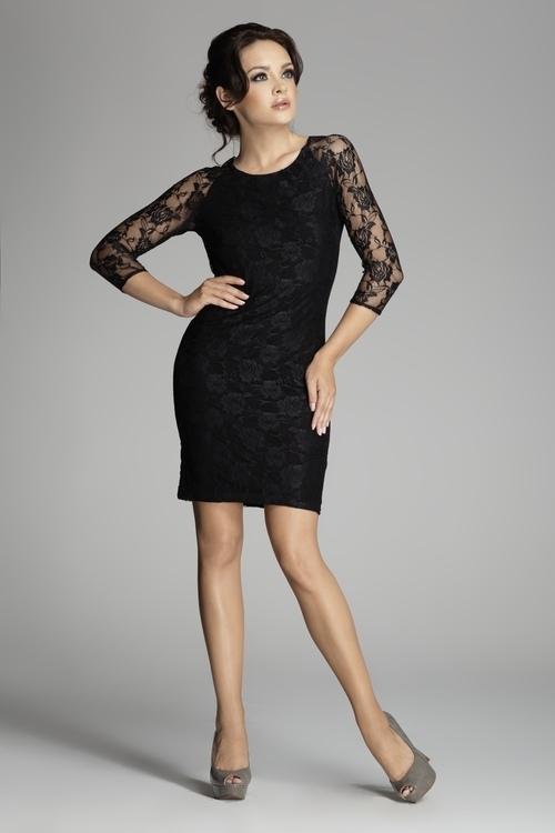Dámské šaty FIGL M076 černé