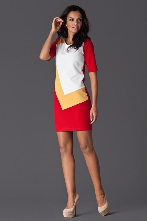 Dámské šaty FIGL M118 red