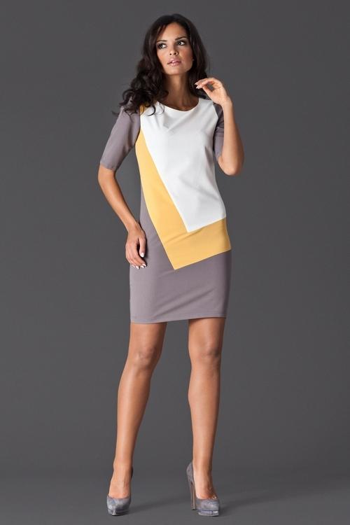 Dámské šaty FIGL M118 yellow